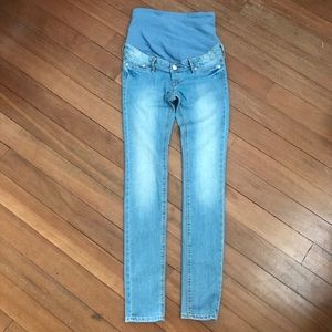 H&M &Denim Maternity Light Wash Jeans